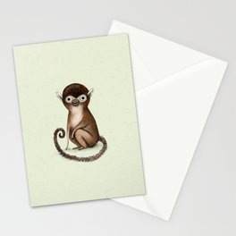 Squirrel Monkey Stationery Cards