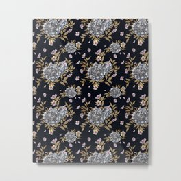 Peony Pattern Metal Print