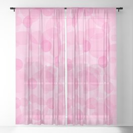 Pink Bubbles 1 Sheer Curtain