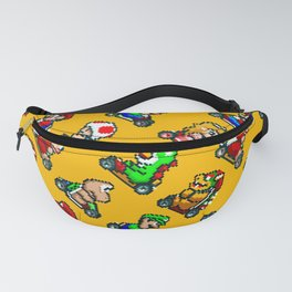 Super Mario Kart funny pattern | orange bowser. Fanny Pack