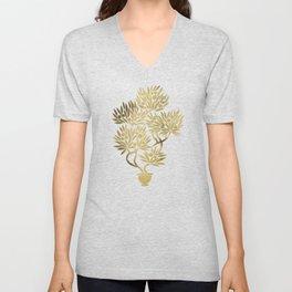 Bonsai Fruit Tree – Gold Palette Unisex V-Neck