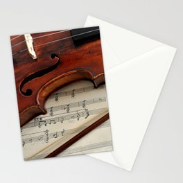 Old violin Stationery Cards