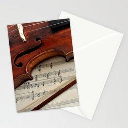 Old violin Stationery Cards