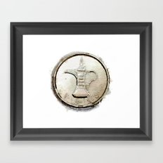 Coin Framed Art Print