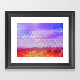 Ultra Surreal Countryside Violet Rainbow Framed Art Print