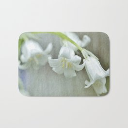 White bluebell...happily different Bath Mat