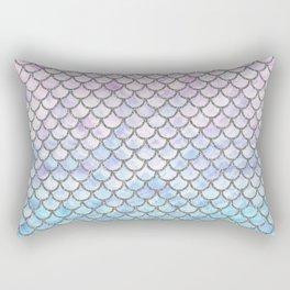 Pastel Mermaid Scales Pattern Rectangular Pillow