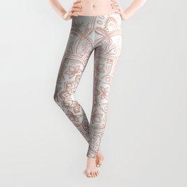 Lace Mandala - Rosegold Leggings