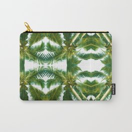 Palm Tree Kaleidoscope (on white) #1 Carry-All Pouch