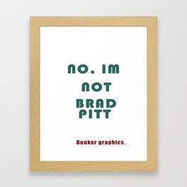 Brad Pitt Framed Art Print