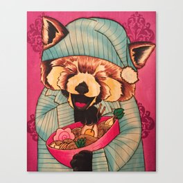 Takayuki & His Midnight Snack Canvas Print
