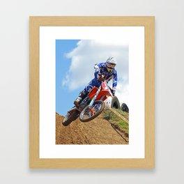 A flying motorcross rider Framed Art Print
