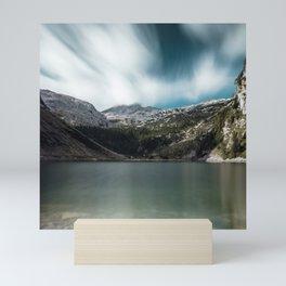 Magnificent lake Krn with mountain Krn, Slovenia Mini Art Print