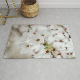 Japanese Cherry Flower Printable Wall Art | Floral Plant Botanical Nature Outdoors Macro Photography Print Rug