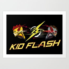 Kid Flash Art Print