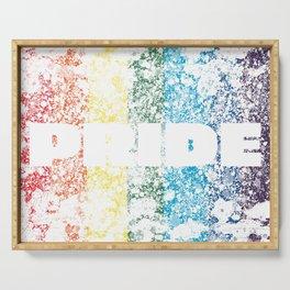 LGBTQ+ Pride Flag Distressed Design Serving Tray