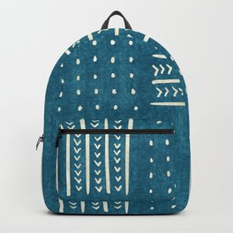 Mud Cloth Patchwork in Teal Backpack
