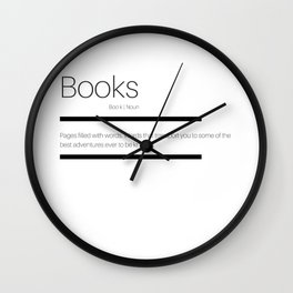 Definition of Books Wall Clock
