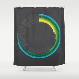 // Tube Infographics vol. II // Shower Curtain