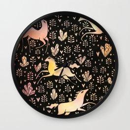 Marshmallow ponies Wall Clock