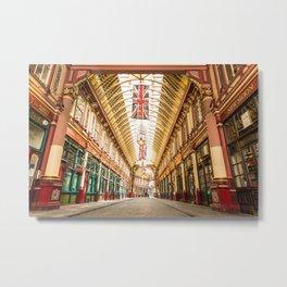 Leadenhall Market, London Metal Print