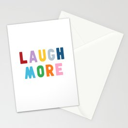 Laugh More Stationery Cards