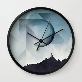 Jagged Peaks Wall Clock