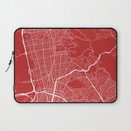 Berkeley Map, USA - Red Laptop Sleeve
