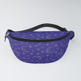 Vintage Celestial Moon & Stars Fanny Pack