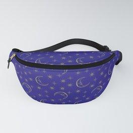 Vintage Celestial Moon & Stars Fanny Pack