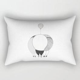 Women chatting and cuddling a baby Rectangular Pillow