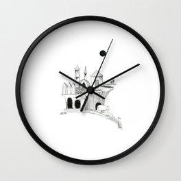 Lune noire & ours de cascade Wall Clock