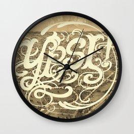 Ypsi! Wall Clock