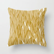 Golden Yellow Leaves Throw Pillow