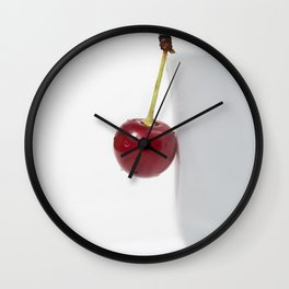Red Cherry Berry Wall Clock