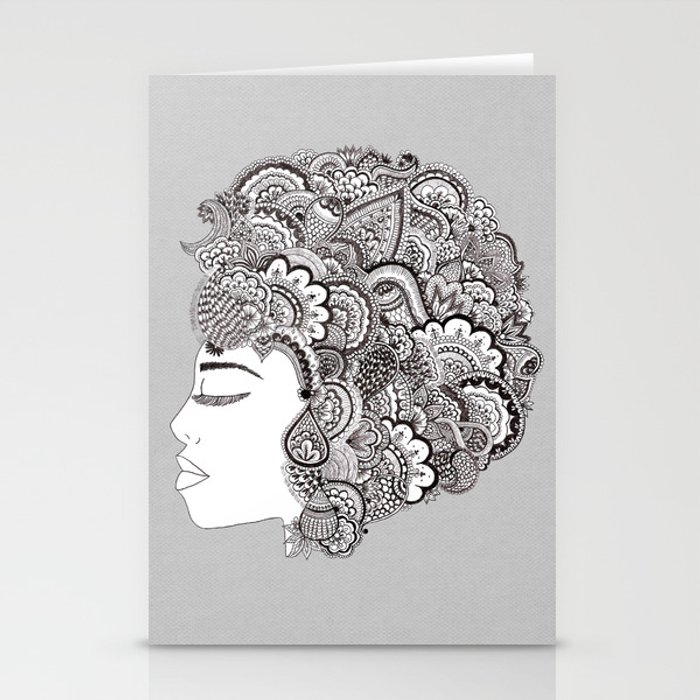 her hair Stationery Cards