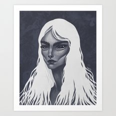 White Haired Art Print