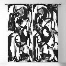 Minotaur - b&w Blackout Curtain