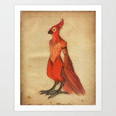 Jardis the Bird King Art Print
