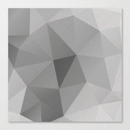Grey Geometric Polygon Pattern Canvas Print