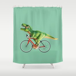 T-REX BIKE Shower Curtain