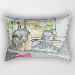 on the way to Ernakulam Rectangular Pillow
