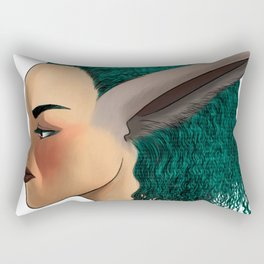 Bunny Girl Rectangular Pillow