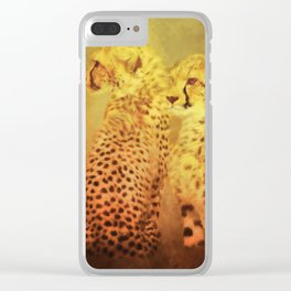 Cheetahs Clear iPhone Case