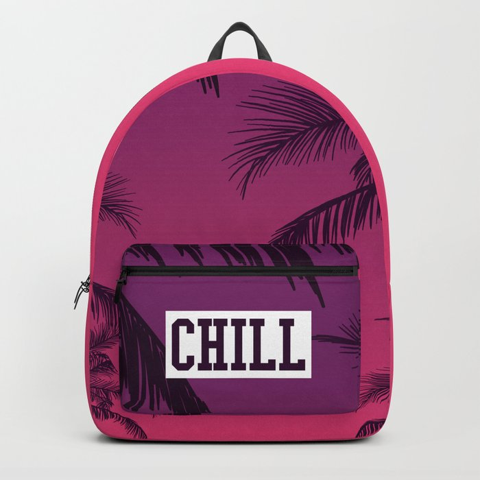 Tropical Chill Quote Backpack