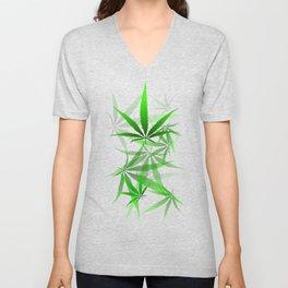 leaves of grass Unisex V-Neck