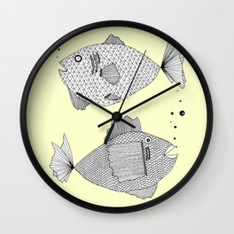 2 fish Wall Clock