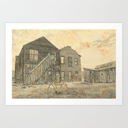 Ghost Town Bodie California Art Print