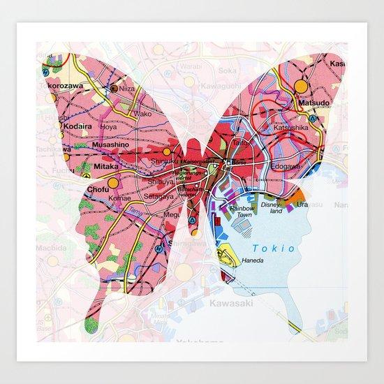 papillon - tokio Art Print