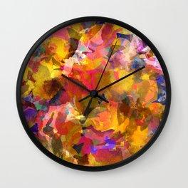 Poppy Gold Wall Clock